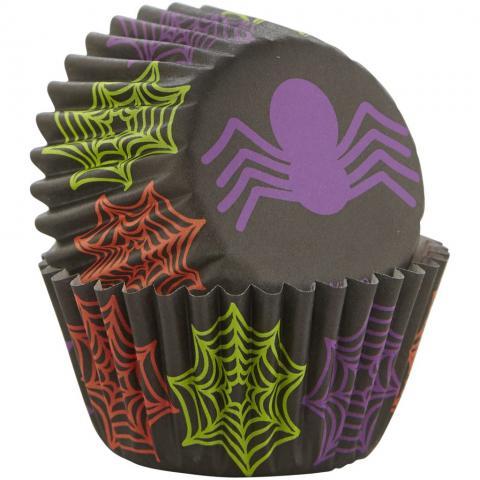 Wilton mini muffinsformar, halloween spindel