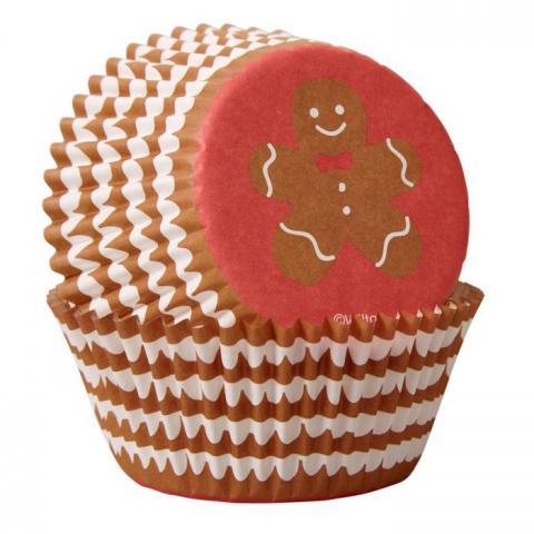 Wilton muffinsformar, randig pepparkaksgubbe