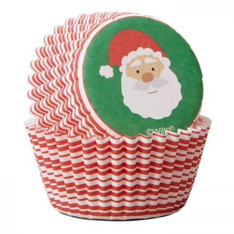 Wilton mini-muffinsformar, jultomte