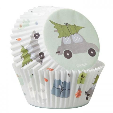 Wilton muffinsformar, bil och julgran
