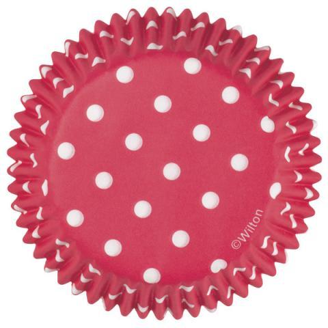 Wilton Dotty muffinsform, röd