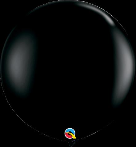 Gummiballonger svart 2st, 90cm
