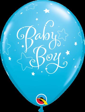 Gummiballonger 6st, baby boy stars