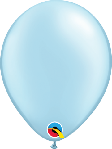 """Gummiballonger 100st, pearl light blue 5"""""""