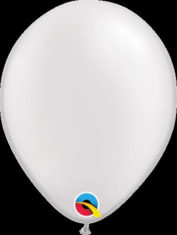 """Gummiballonger 100st, pearl white 5"""""""