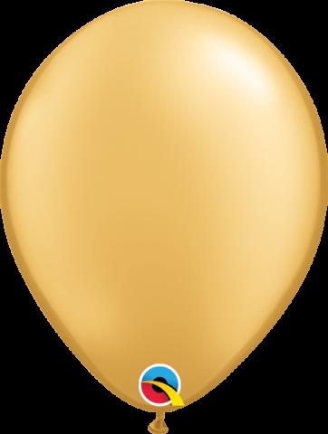 """Gummiballonger 100st, gold 11"""""""