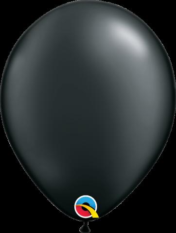 "Gummiballonger 100st, pearl onyx black 11"""