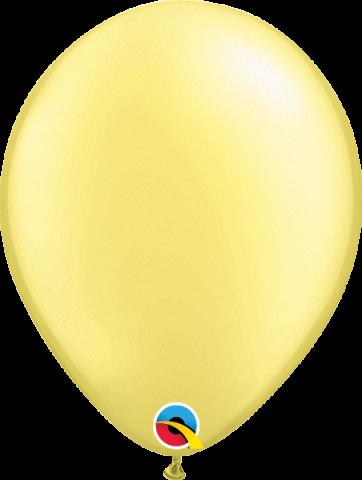 """Gummiballonger 100st, pearl lemon chiffon 11"""""""