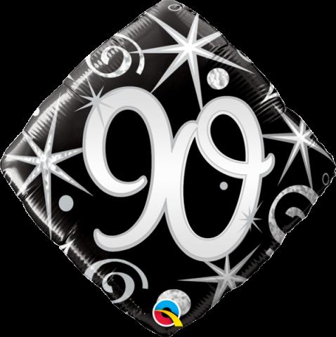 Folieballong, elegant sparkles 90