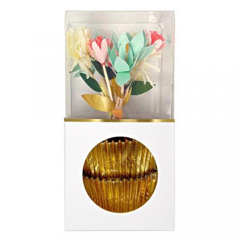 Muffins dekorationsset Flower Bouquet, Meri Meri