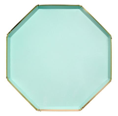 Octagonal mint stora tallrikar, Meri Meri