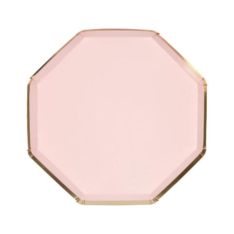 Octagonal dusty pink små tallrikar, Meri Meri