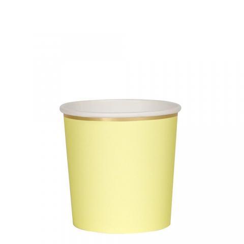 Octagonal pale yellow, muggar