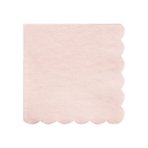 Octagonal dusty pink, små servetter