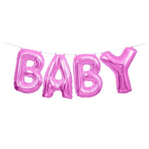 Folieballong, BABY Kit - baby pink