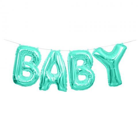 Folieballong, BABY Kit - baby blue