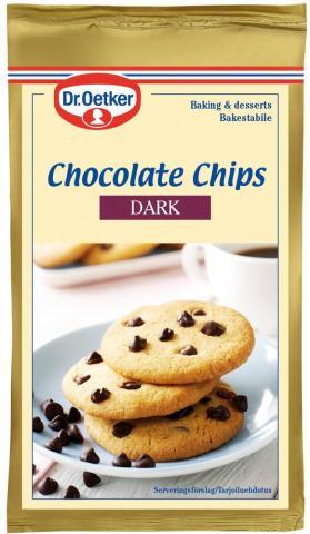 Dr Oetker chokladbitar, mörkchoklad 100g