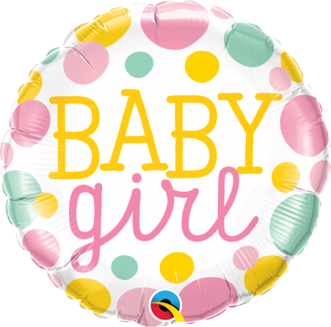 Folieballong, Baby Girl Dots
