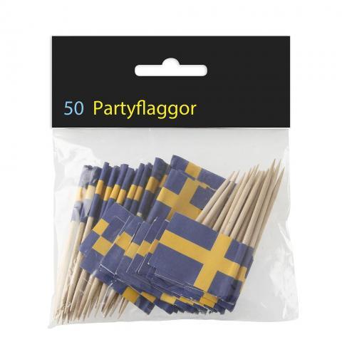 Svenska flaggan-cocktailstickor, 50st