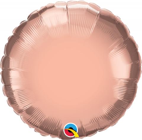 Folieballong, rund roséguld