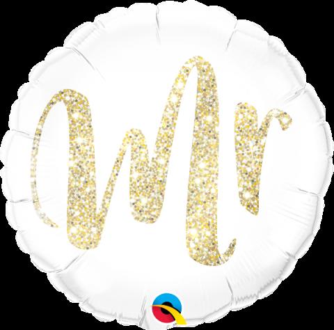 Folieballong, Mr glitter gold