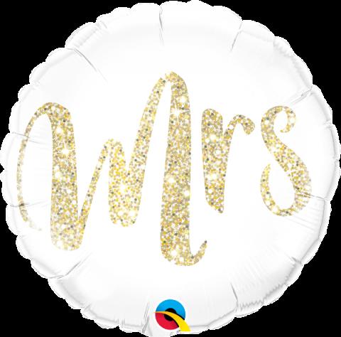 Folieballong, Mrs glitter gold