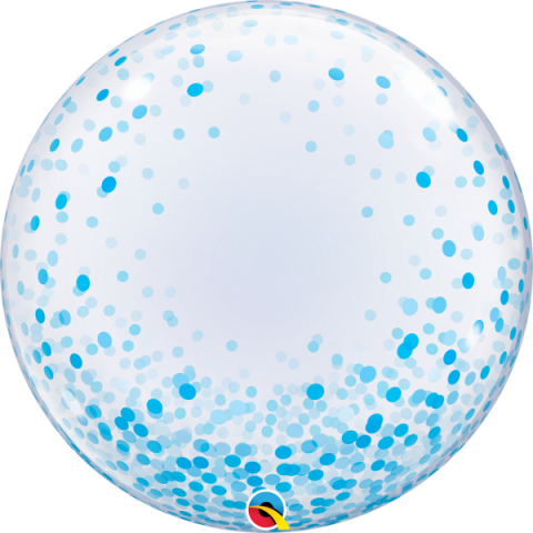 Bubbleballong, blue confetti dots