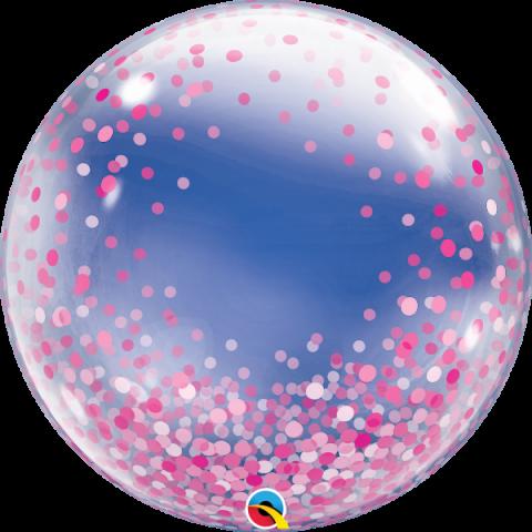 Bubbleballong, pink confetti dots
