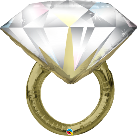 Figurfolieballong, diamond wedding ring
