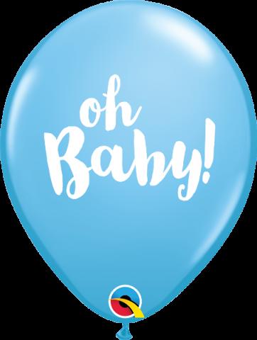 Gummiballong 25st, Oh baby ljusblå
