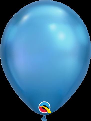 """Gummiballonger 100st, chrome blue 11"""""""