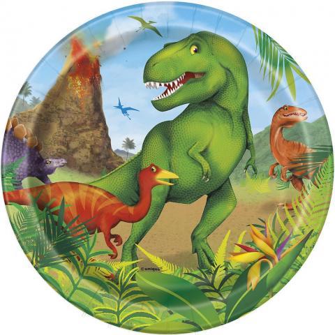 Dinosaurus små tallrikar