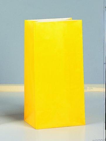 Papperspåse, gul