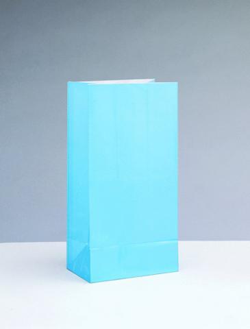 Papperspåse, ljusblå