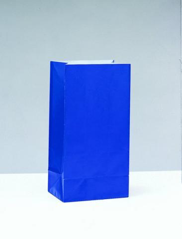 Papperspåse, blå