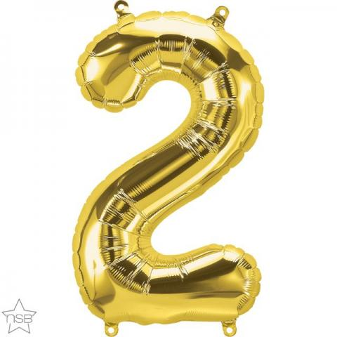 Uppblåsbar ballong, Guld nummer 2