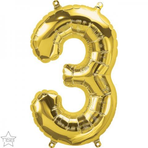 Uppblåsbar ballong, Guld nummer 3