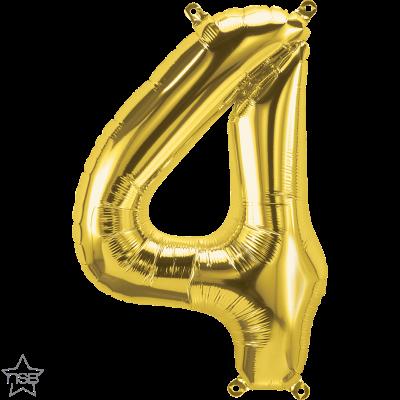 Uppblåsbar ballong, Guld nummer 4