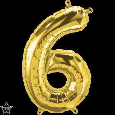 Uppblåsbar ballong, Guld nummer 6