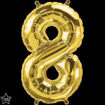 Uppblåsbar ballong, Guld nummer 8