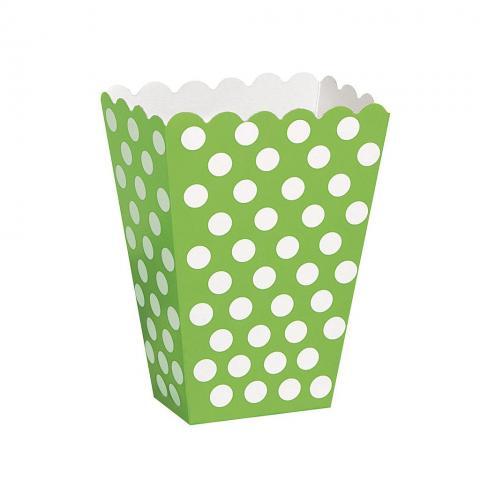 Snacks box, dotty limegrön