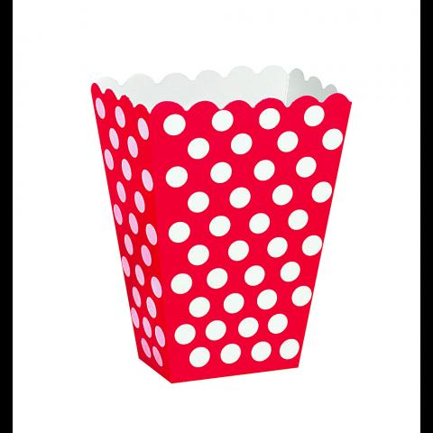 Snacks box, dotty röd