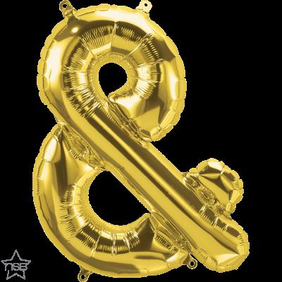 Uppblåsbar ballong, Guld &