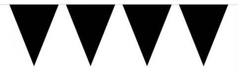 Mini-flaggvimpel, svart 3m