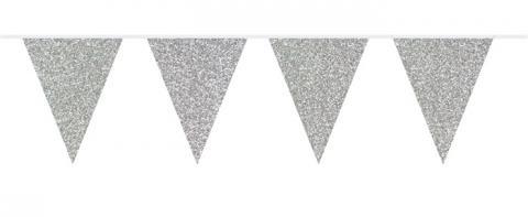 Vimplar, silverglitter 6 m