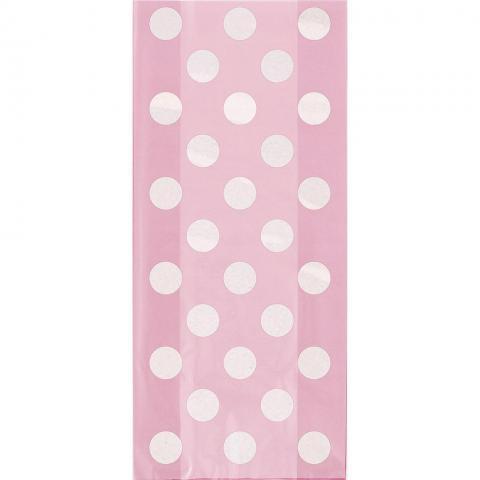 Cellofanpåsar, rosa polkadot