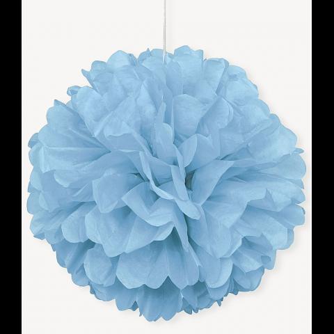 Pompom, ljusblå