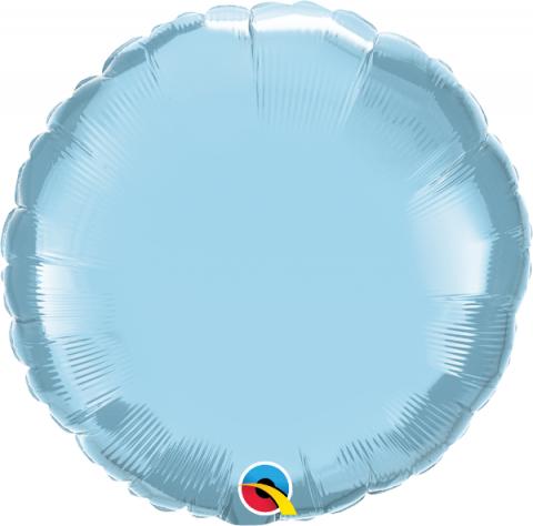 Folieballong, rund ljusblå