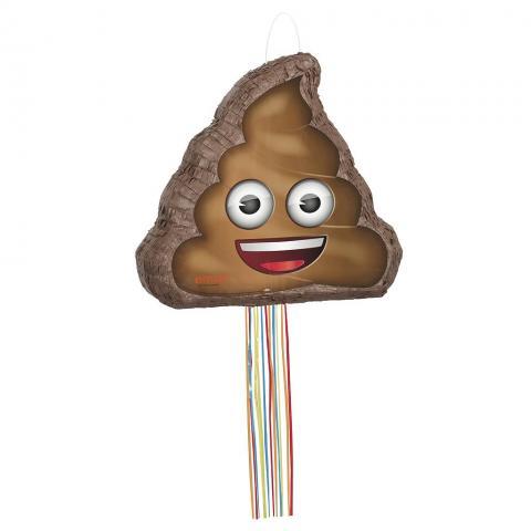 Piñata med dragsnöre -Emoji Poop