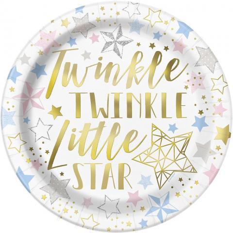 Twinkle little star stora tallrikar